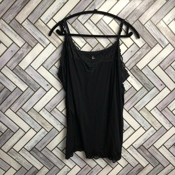 Lane Bryant The Lace Cami In Black